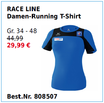 RACE LINE Damen-Running T-Shirt