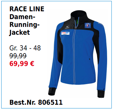 RACE LINE Damen Running-Jacket