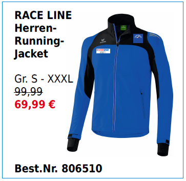 RACE LINE Herren Running-Jacket