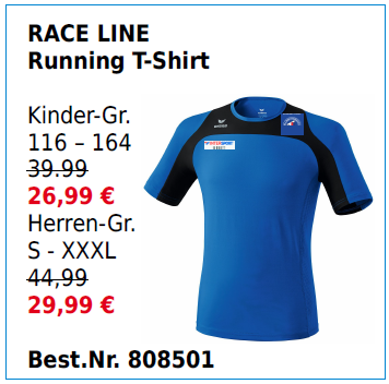 RACE LINE Running T-Shirt
