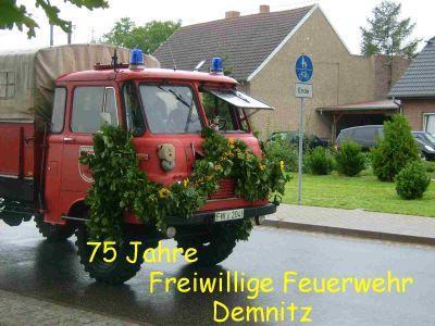 Fotoalbum 75 Jahre Freiwillige Feuerwehr Demnitz