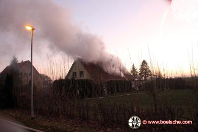 Fotoalbum Wohnhausbrand in Lindenbeck