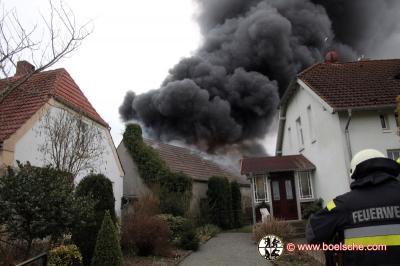 Fotoalbum Scheunenbrand in Granzin