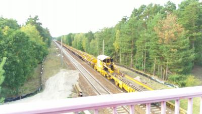Fotoalbum Bauarbeiten an der Berlin-Dresdener Bahn 2017