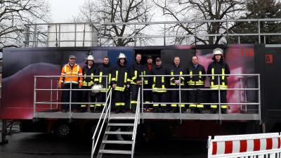 Fotoalbum Brandübungscontainer am Feuerwehrdepot in Mulda