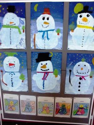 Fotoalbum Schneemänner der Klasse 1