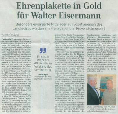 Fotoalbum Ehrung des Kreissportbundes für Ehrenamt
