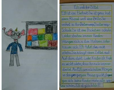 Fotoalbum Elfi, das Schulmaskottchen