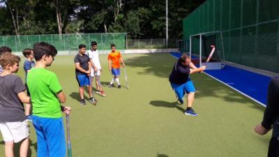 Fotoalbum Projekttag für Hörgeschädigte im BW-Hockeypark