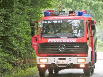 Fotoalbum Großübung der Feuerwehren in Langeln