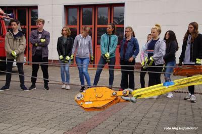 Fotoalbum Projektwoche des Vicco-von-Bülow-Gymnasiums bei der Feuerwehr