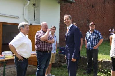 Fotoalbum Zuwendungsbescheid Dorferneuerung Obergude