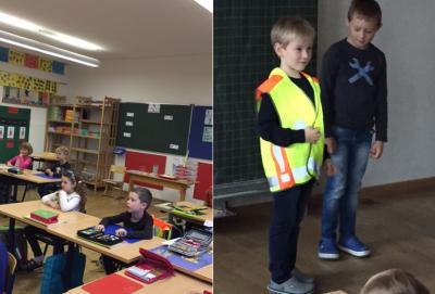 Fotoalbum Schulbustraining mit Polizei und Susi