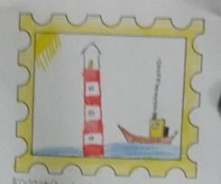 Fotoalbum Briefmarken im Kunstunterricht Klasse 1/2a