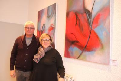 Fotoalbum Gemäldeausstellung vom 1. 12.2017 - 26. 1. 2018 im Waldsolmser Rathaus