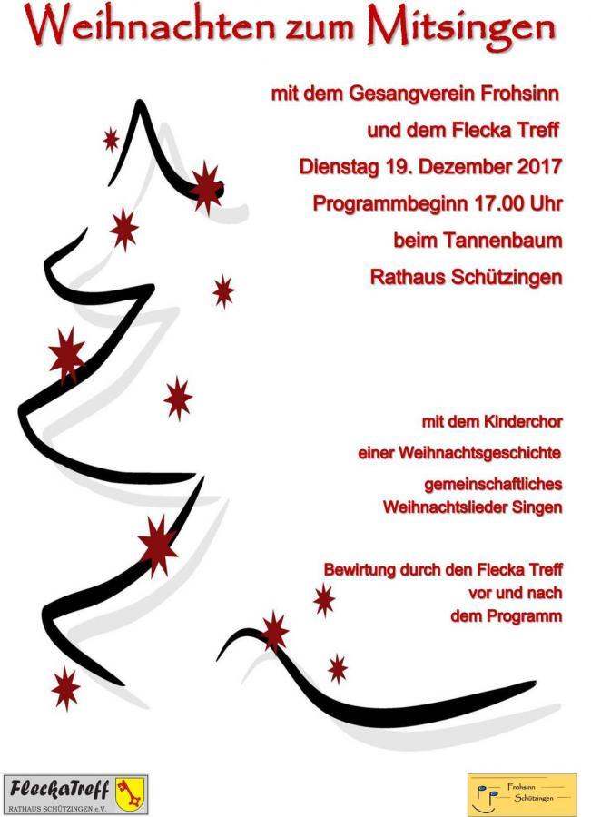 Tannenbaum Singen.Gemeinde Illingen Singen Unterm Tannenbaum