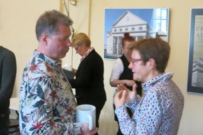 Fotoalbum Theaterfrühstück mit R. Doernen und A. Luna