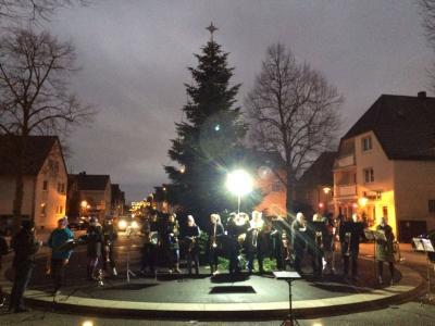 Fotoalbum Weihnachtsblasen, Christbaum am Plan