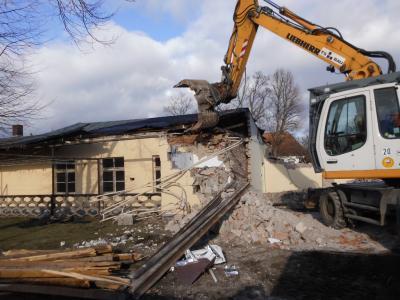 Fotoalbum Unser neues Sportgebäude -- der Bau