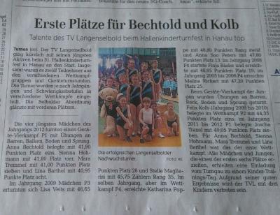Fotoalbum TV Langenselbold erfolgreich beim 31. Hallenkinderturnfest des Turngau Offenbach-Hanau gestartet.