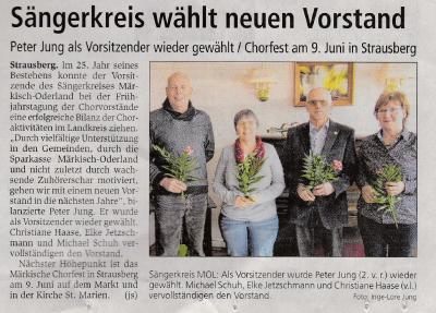 Fotoalbum Neuer Vorstand Sängerkreis Märkisch Oderland
