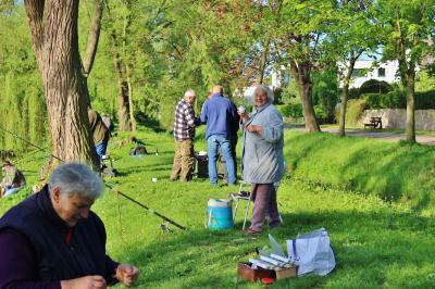 Fotoalbum Seniorenangeln am Schloßsteich, da ist Kaiserwetter inklusive