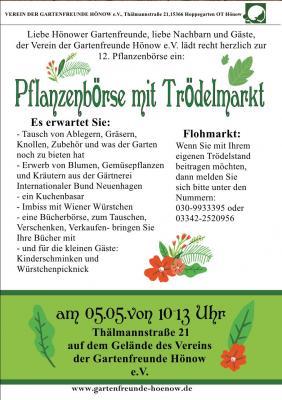 Fotoalbum 12. Pflanzenbörse mit Trödelmarkt