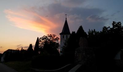 Fotoalbum Sonnenuntergang an der Kirche Wildgrube