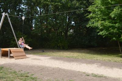Fotoalbum Offizielle Freigabe der Seilbahn auf dem Spielplatz Dohlensteg