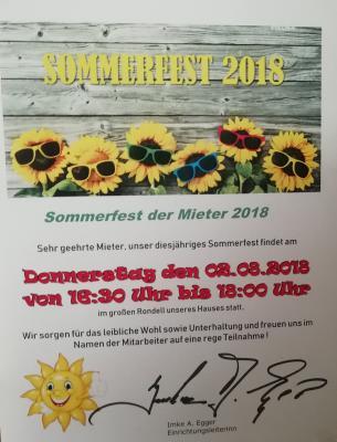 Fotoalbum Sommerfest im Seniorenheim Andernacher Straße