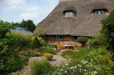 Fotoalbum Gartenreise der Rosenfreunde 2018: Garten von Fenna Graf in Ascheberg
