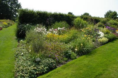 Fotoalbum Gartenreise der Rosenfreunde 2018: Garten der Horizonte in Heidgraben