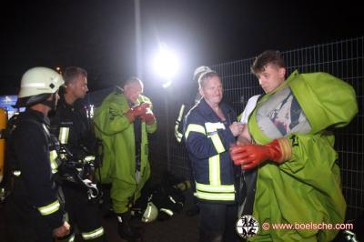 Fotoalbum Brand einer Biodieselfirma mit anschließenden Gefahrguteinsatz, Lübz