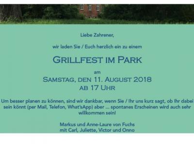 Fotoalbum Grillfest im Park in Zahren