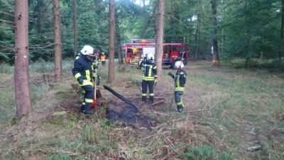 Fotoalbum Feuer im Krofdorfer Forst
