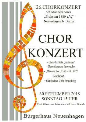 Fotoalbum 26. Neuenhagener Chorkonzert