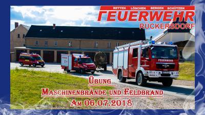 Fotoalbum Übung Maschinen- und Feldbrände