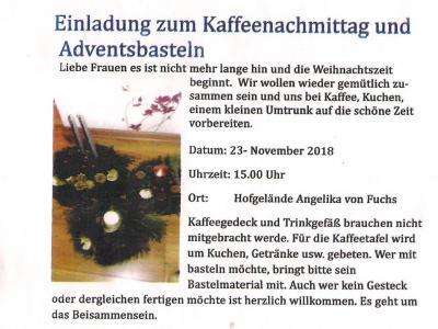 Fotoalbum Kaffeeklatsch in Zahren