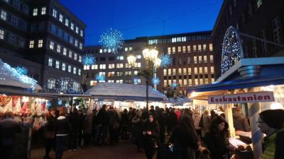 Fotoalbum Weihnachtsmarkt Düsseldorf und Schloss Benrath