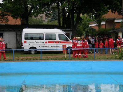 Fotoalbum Kreiswettbewerb der Wasserwachten des DRK Kreisverbandes Spreewald-Fläming e.V. im Schwimmbad Dahme