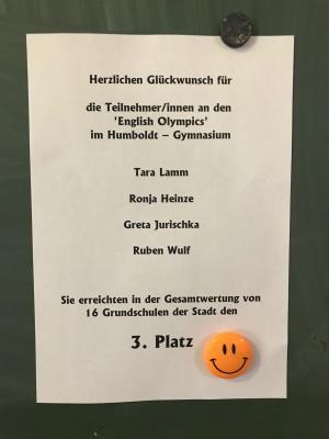Fotoalbum 3.Platz - English Olypics