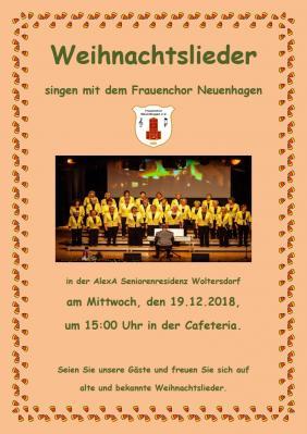 Fotoalbum Weihnachtssingen in der AlexA Seniorenresidenz Woltersdorf