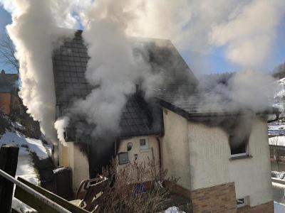 Fotoalbum EINSATZ: Zimmerbrand in Tettau