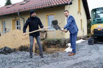 Fotoalbum Erster Spatenstich - Unser neues Vereinsheim entsteht