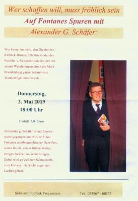 Fotoalbum Buchlesung mit Aleander G.Schäfer: Auf Fontanes Spuren
