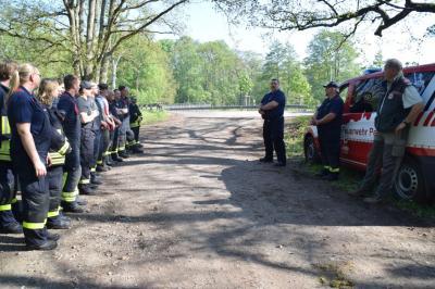 Fotoalbum Waldbrandübung der Freiwilligen Feuerwehren der Stadt Perleberg