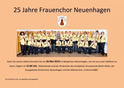 Fotoalbum Jubiläumskonzert zum 25 jährigen Bestehen des Frauenchores