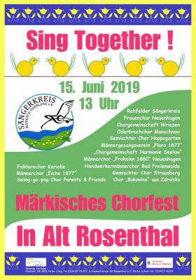 Fotoalbum Märkisches Chorfest 2019 in Alt Rosenthal