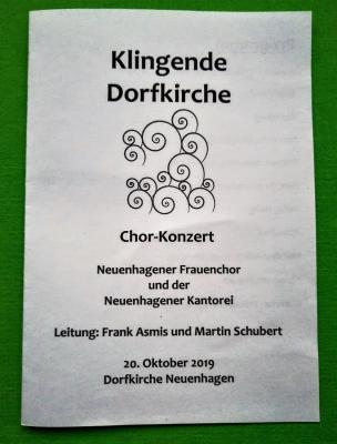 Fotoalbum Herbstkonzert mit der Kantorei Neuenhagen