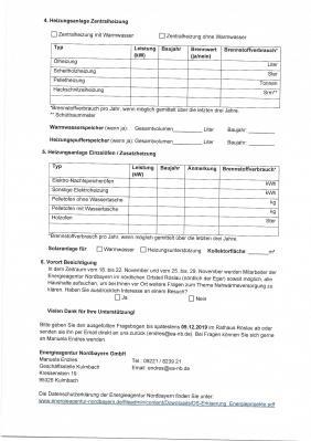Fotoalbum Erhebungsbogen Wärmenetz Röslau